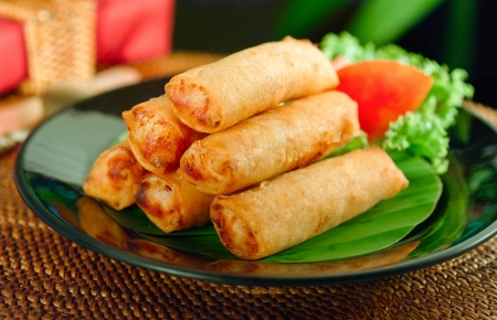 Mediterranean Moroccan fried spring roll great ap photo