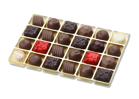 Sweet chocolate in the box to give for someone you love Stock Photo - 15671402