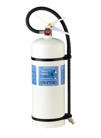 isolates: fire extinguisher for fire protection isolates on white