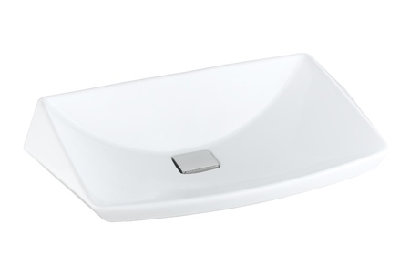 Durable washbain made of ceramic or porcelain beautiful for your restroom isolates Stock Photo - 15671435