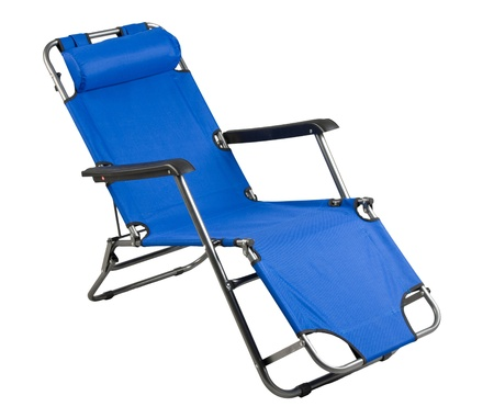 folding chair: Nice beach chair or camping chair isolated on white background
