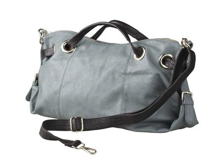 woman handle success: Nice luxury woman leather handbag isolates