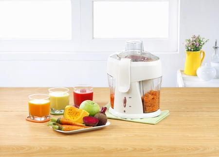 Eletric juice blender machine with pulp separator the home appliance photo