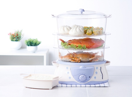 Электрический паром горшок приготовлениями пищи более легко в домашних условиях