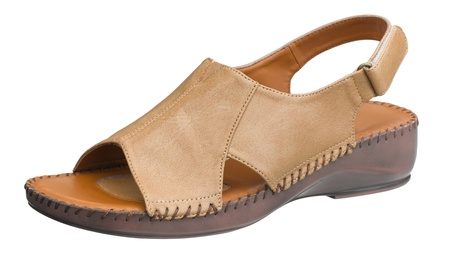 isolates: Woman sandals in brown color isolates on white