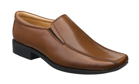 Brown leather shoe great for your working day isolated Stock Photo - 15732942