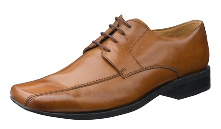 Brown leather shoe great for your working day isolated Stock Photo - 15732946