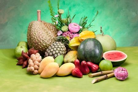 태국 열대 올 시즌 과일 아시아의 맛