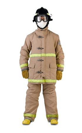 Firefighter in his fireman uniform isolates Stock Photo - 15755937