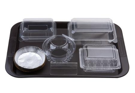 Лоток пуст хлебобулочных пластиковый пакет посуды для хранения хлеба печенья булочки или пирог