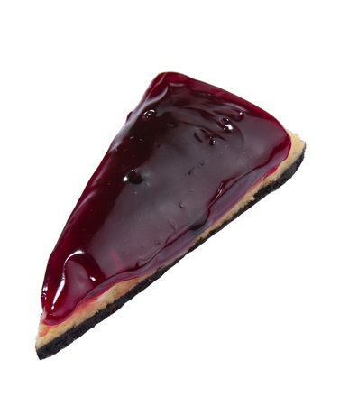 raspberry cake isolated on white background Stock Photo - 15819159