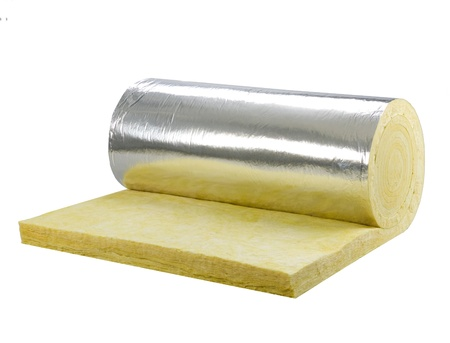glass fiber: Roll of insulator sheet to use beneath the roofing for heat or cold protection in any daytime or seasons