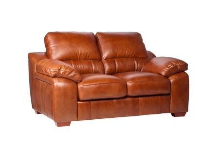 brown leather sofa: Nizza e di lusso divano in pelle marrone, i mobili in pelle grande Archivio Fotografico