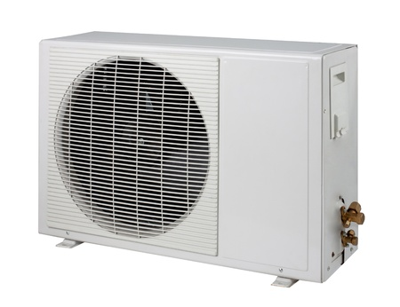 Air condition condenser unit isolated  photo