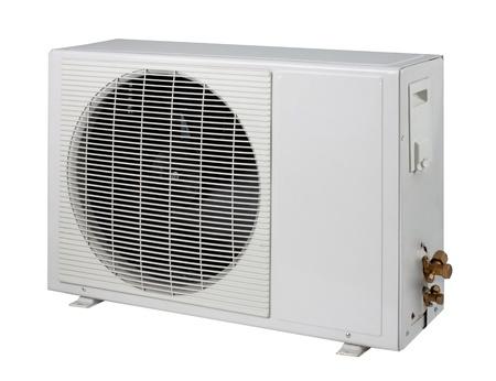air pump: Air condition condenser unit isolated