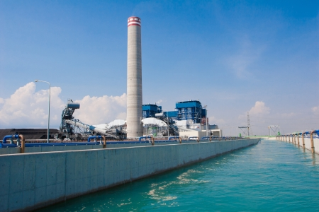 water purification plant: The water and wast water treatment in the petrochemical site Stock Photo