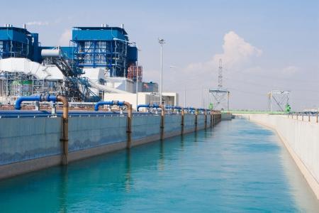 abwasser: Wasser und warst Wasseraufbereitung in der petrochemischen Website Lizenzfreie Bilder