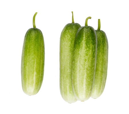 isolates: cucumber high ingredient and vitamins isolates on white