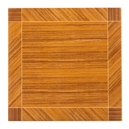 scuffed: Brown floor tile or wall tile isolated on white background Stock Photo