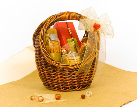 아름다운 쿠키 선물 바구니 바구니 스톡 사진