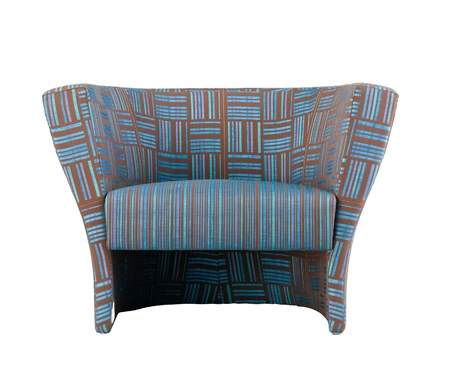 isolates: Nice and comfortable armchair with soft seat pad for your relaxing isolates  Stock Photo