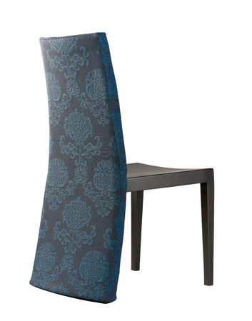 isolates: cute design of the dinning chair made of beautiful fabric flower pattern isolates Stock Photo