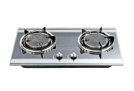 isolates: Gas stove the useful kitchenware isolates Stock Photo