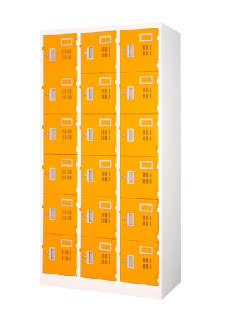isolates: Beautiful and colorful locker in bright orange color isolates