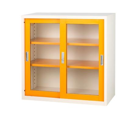 isolates: Beautiful closet in orange color isolates