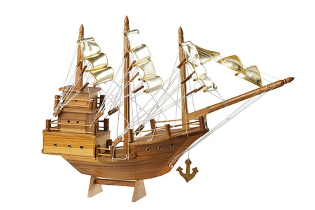 starboard: wooden handmade clipper ship for home decoration
