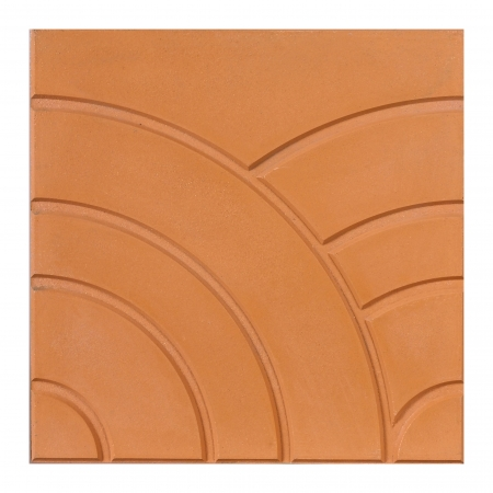 scuffed: A unique design of the brown floor or wall tile  Stock Photo
