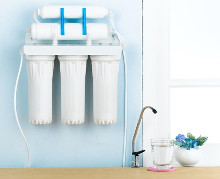 Eau Accueil filtre pour purifier votre eau potable Banque d'images