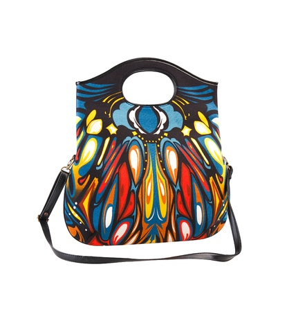 isolates: Colorful pattern handbag for woman isolates