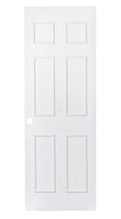 isolates: White plain leaf door for paint others color into it  Stock Photo