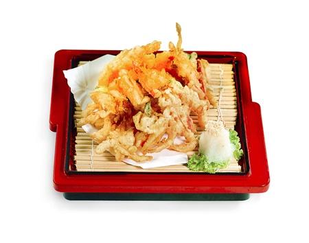Vegetables fried tempura menu, Japanese food Stock Photo - 16445391