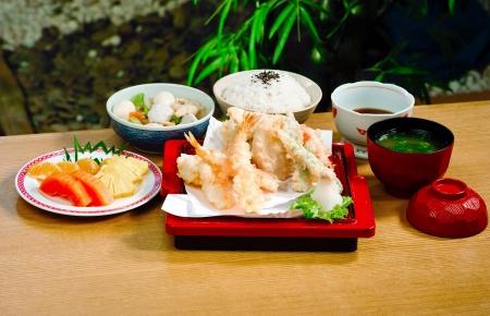 favorite soup: Tempura set Japanese food style