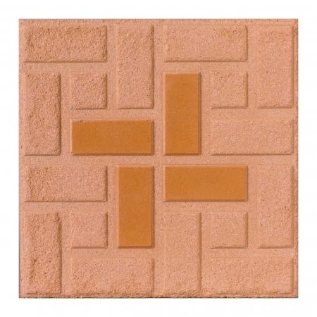 sand art: Brown rough floor tile isolated  Stock Photo