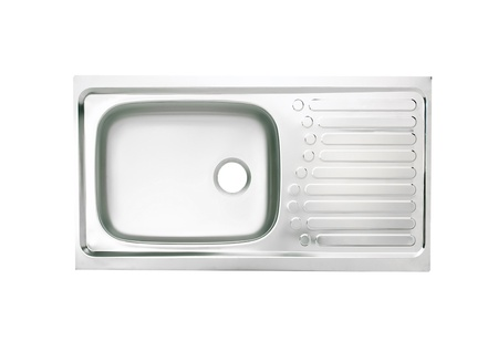 Top view of the empty dish cleaning sink a necessary kitchenware photo
