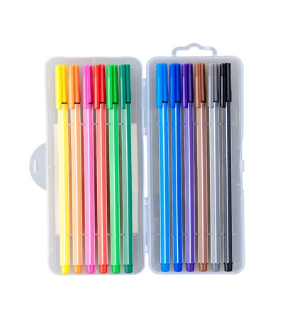 isolates: Nice colorful pens isolates on white background  Stock Photo