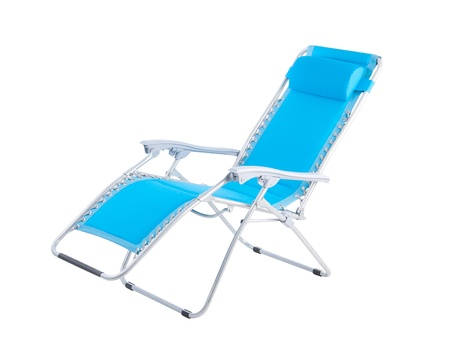 bendable: Relaxing chair in blue color isolated