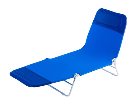 bendable: Relaxing chair in blue color isolated on white