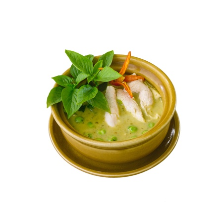 sweet course: Green chicken curry a popular Thai food dish