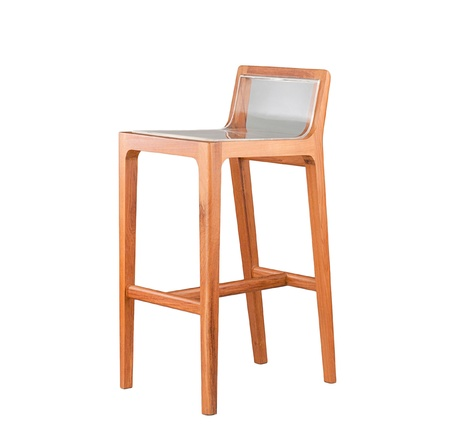 Modern design of wooden tall stool chair photo