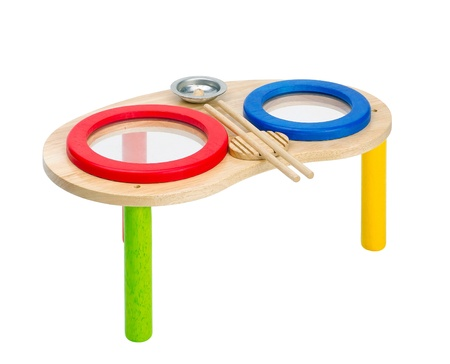tuneful: Colorful wooden toy drums for children