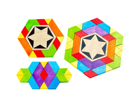 imagines: Colorful wooden toy lets children play and creat there imagines