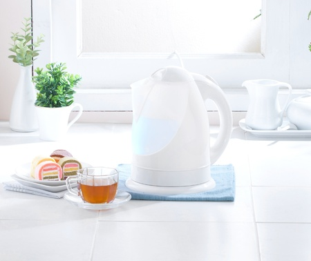 Nice and clean kettle in the hygiene kitchen Stock Photo - 16446414