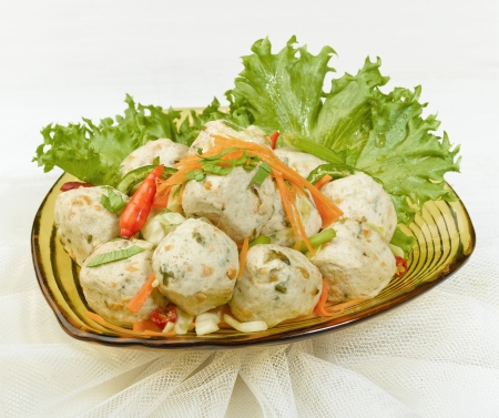 organics: Vegetarian fish ball easy cooking great for health