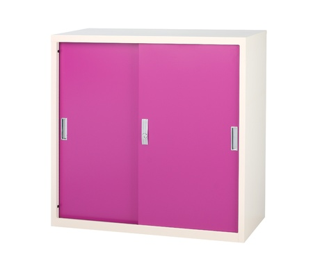 Steel furniture in bright violet colr great for all purpose photo