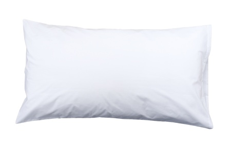 healthy pillow to support your neck isolates on white Stock Photo - 16653679