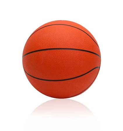 sporting goods: Basketball the world favorite sport games isolated on white Stock Photo